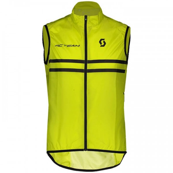 Chaleco cortavientos SCOTT RC Team Windbreaker negro - amarillo F6077Z3235