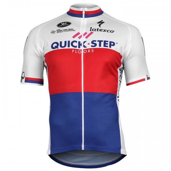 2018 Maillot mangas cortas QUICK- STEP FLOORS Campeón Checa J9850I6728